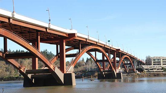 A befejezett Sellwood-híd projekt képe. A kép a Sundt tulajdona.