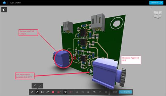 Az új Fusion 360-frissítés MCAD-ECAD együttműködési szolgáltatásokat tartalmaz (a kép az Autodesk tulajdona).